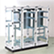 Due to its symmetry, the enclosures can be coupled in different combinations.