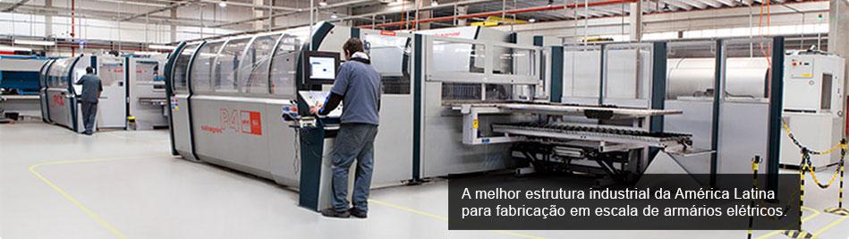 A melhor estrutura industrial da América Latina para fabricação em escala de armários elétricos.