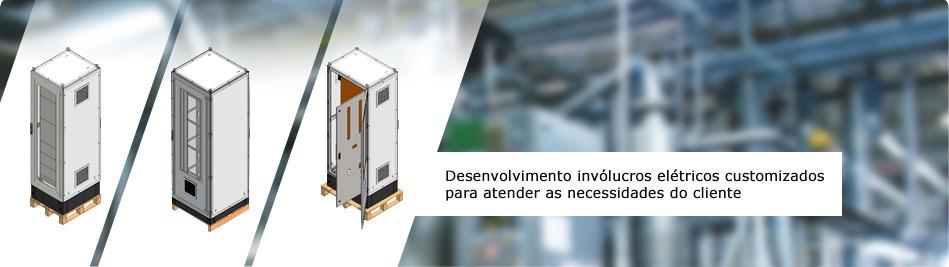 Desenvolvimento invólucros elétricos customizados para atender as necessidades do cliente