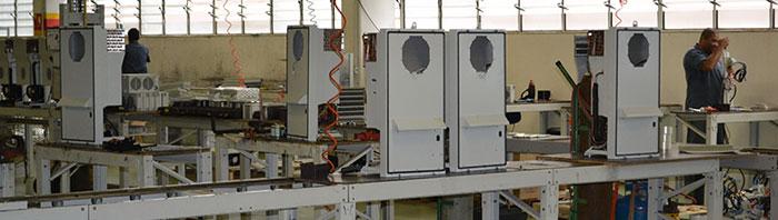 Linha de montagem de produtos de climatização