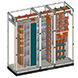 Sistema de isoladores com nível de curto-circuito de 66 kA 1s com economia de 30% de cobre nos barramentos